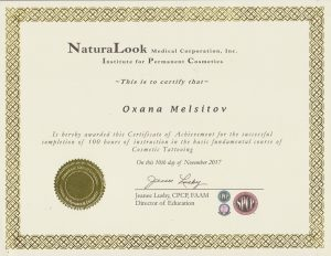 Institute for Permanent Cosmetics - Cosmetic Tattooing Certificate