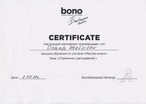 Bono Master Class Eyeliner Certificate